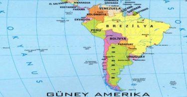 Güney Amerika'daki ülkelerin güncel listesi