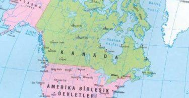 Kuzey Amerika'daki Ülkelerin Listesi
