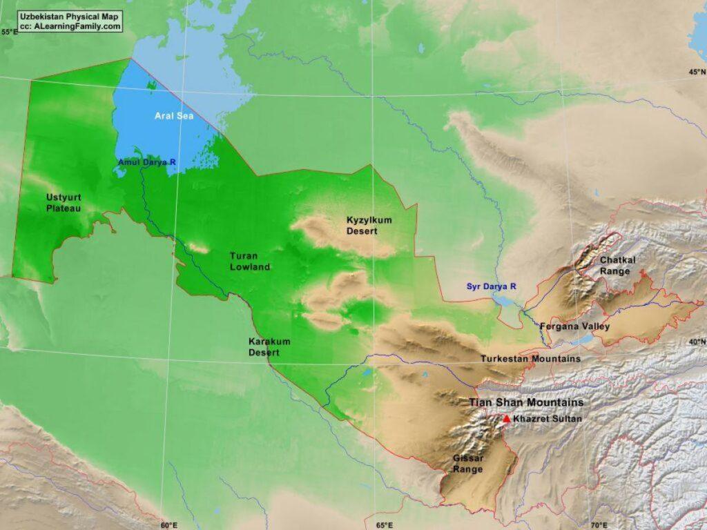 Özbekistan Hakkında Coğrafi Bilgiler 1 – zbekistan fiziki