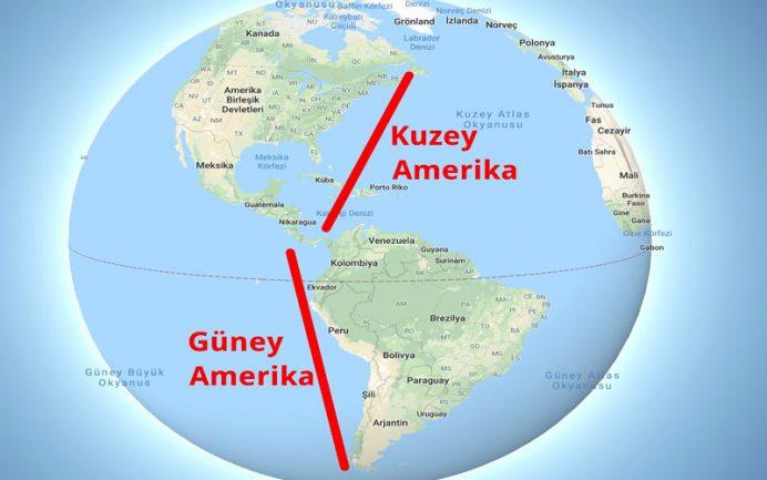Amerika Kıtası'nın Coğrafi Özellikleri 4 – amerika kıtası haritası