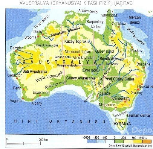 Avusturalya Kıtası'nın Coğrafi Özellikleri 1 – avusturalya fiziki