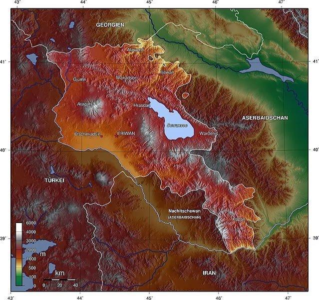 KYK burs ve kredileri arttı 2 – ermenistan topografi haritası