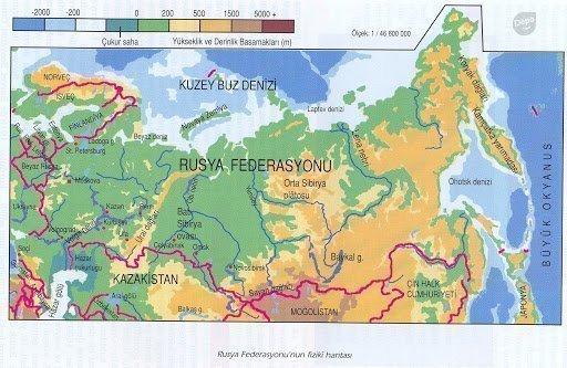 Rusya Hakkında Coğrafi Bilgiler 1 – rusya harita