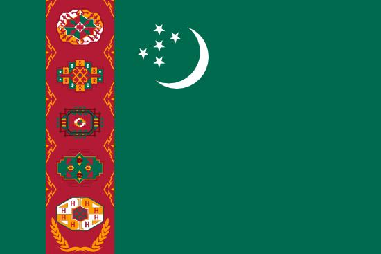 Türkmenistan Hakkında Coğrafi Bilgiler 3 – türkmeniztan bayrağı