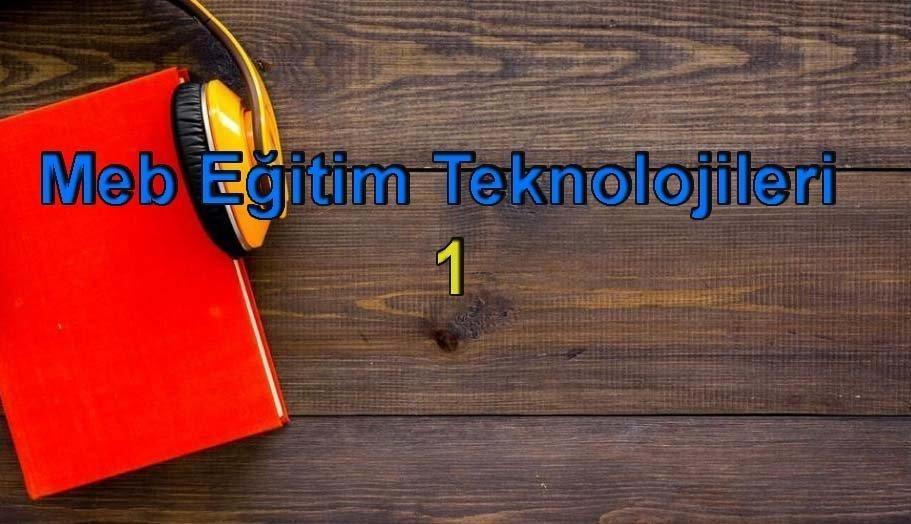 Meb Eğitim Teknolojileri 1 Sesli Kitap Dinle 2 – tc meb