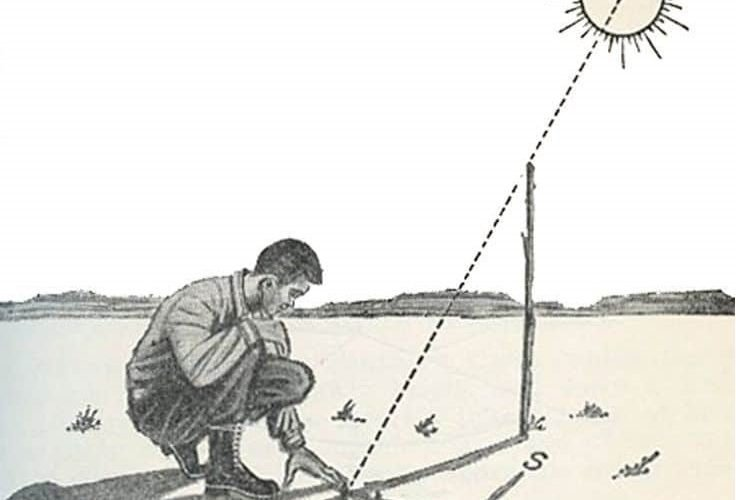 Güneş ve Gölge Yöntemi ile Yön Bulma 4 – yön bulma