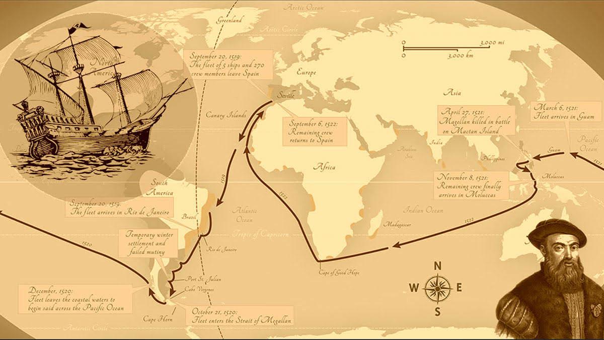 Ferdinand Magellan Kimdir? Keşifleri ve Eserleri Nelerdir? 1 – ferdinand magellan gezileri