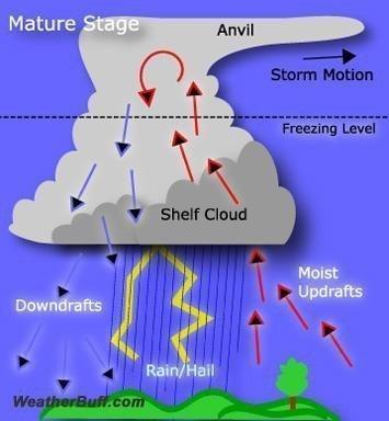 Gökgürültülü Fırtınalar Nasıl Oluşur? İklim Değişikliğinin Etkisi 2 – gökgürültülü fırtına thunderstorm olgunluk evresi