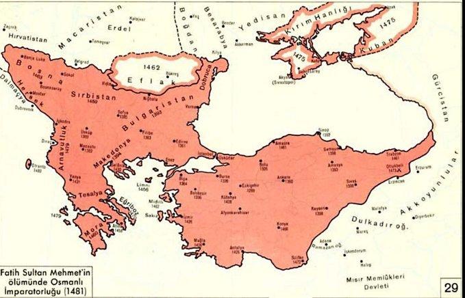 Fatih Sultan Mehmet Dönemi Savaşları Ve Gelişmeleri (Detaylı) 1 – fatih sultan mehmet dönemi osmanlı haritası