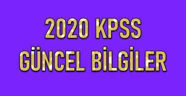 Kpss İçin En Güncel Bilgiler 2020 4 – kpss güncel bilgiler