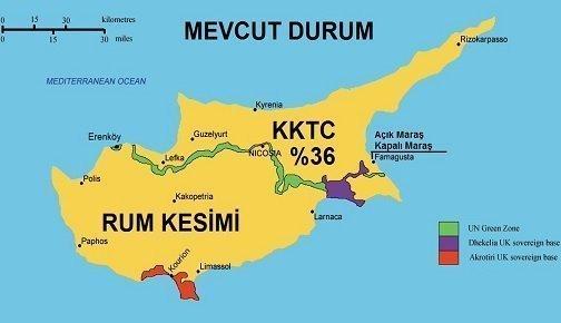 Kıbrıs'ın Coğrafyası, Fiziki ve Ekonomik Yapısı 1 – kibris harita