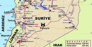 Suriye'nin Coğrafyası, Fiziki ve Ekonomik Yapısı 4 – suriye haritasi