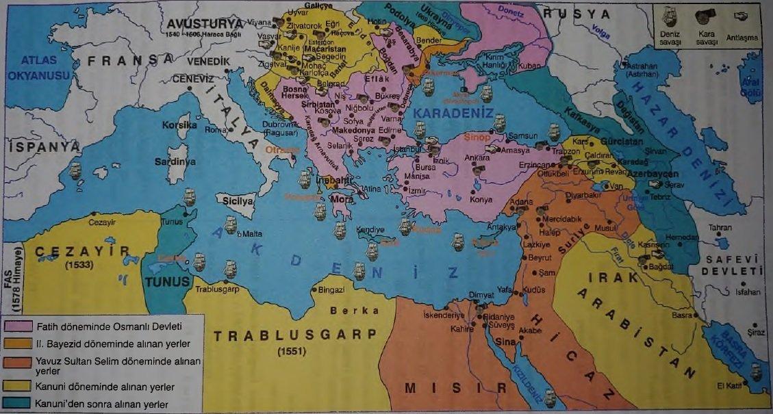 Sokullu Mehmet Paşa Dönemi Savaşları ve Gelişmeleri (1564 - 1579) 1 – Osmanlinin En Genis Sinirlari