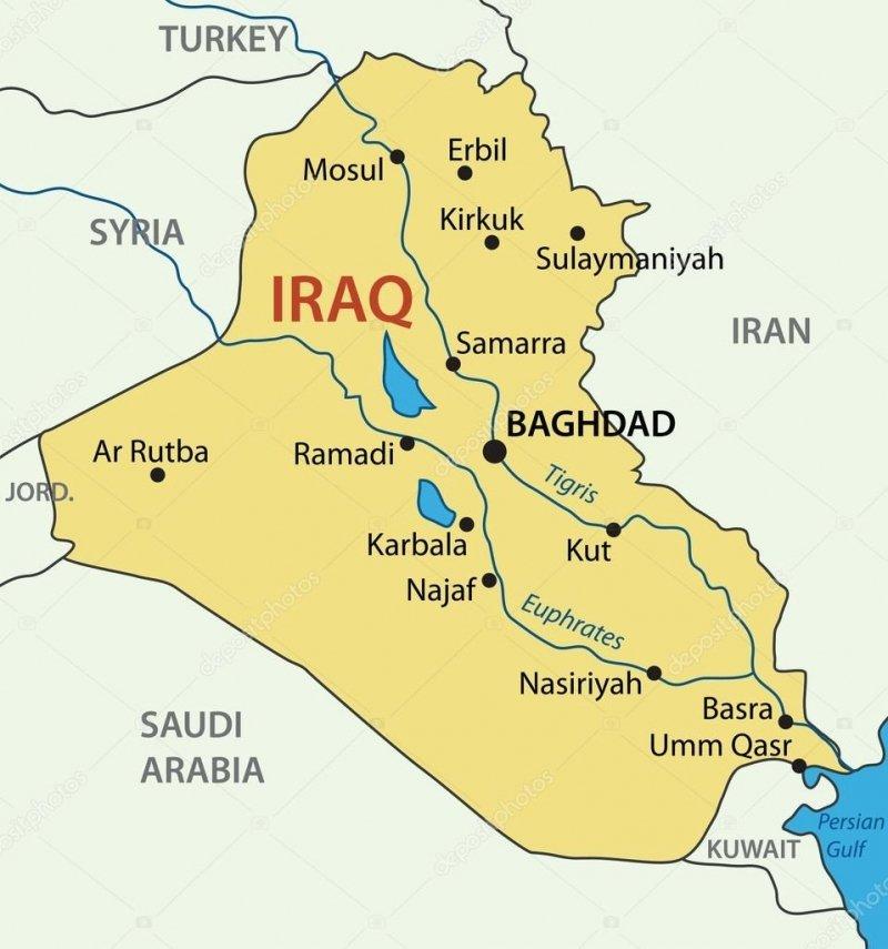 Irak'ın Coğrafyası, Fiziki ve Ekonomik Yapısı 1 – irak siyasi haritasi