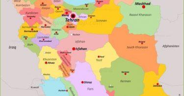 İran'ın Siyasi Coğrafyası, Fiziki ve Ekonomik Yapısı 3 – iran siyasi harita